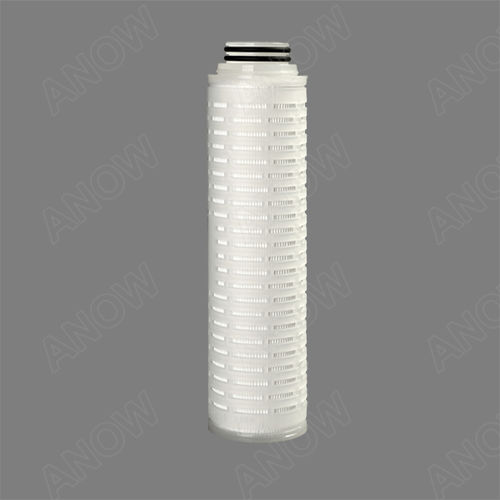 chemical product filter cartridge / depth / polypropylene / pleated