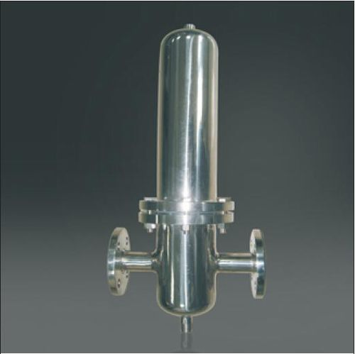 single-cartridge filter housing / for gas / PTFE / stainless steel