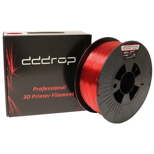 3D printer PETG filament / 1,75 mm / black / red