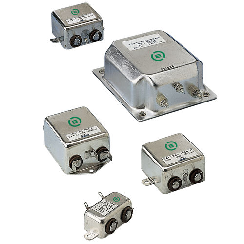 band-pass electronic filter / passive / screw-in / for power supplies