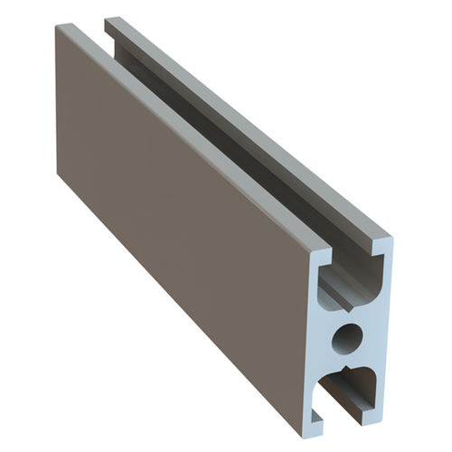 anodized aluminum profile / H-shaped / industrial