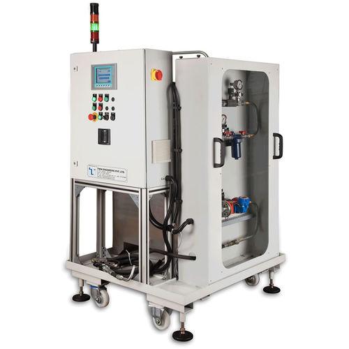 oil filling machine / automatic / for transmission fluids