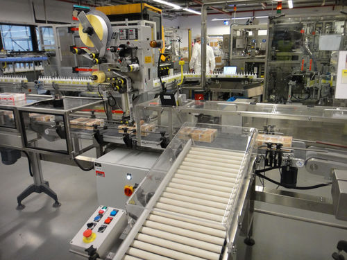 automatic labeler / motorized / top / side