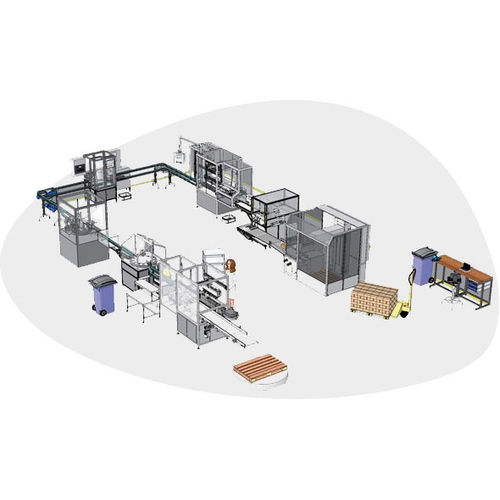 complete packaging line for industrial applications