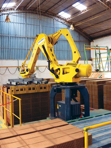 robotic palletizer / articulated / bag / for boxes