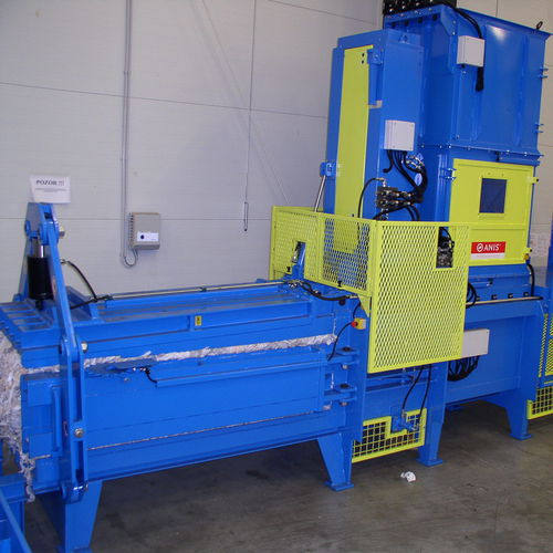 horizontal baling press / top-loading / channel / for automobiles