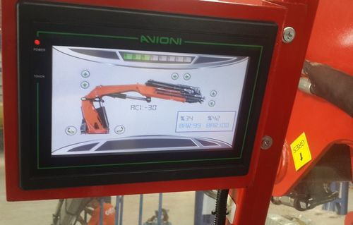 HMI terminal with touch screen / with keyboard / panel-mount / 800 x 480