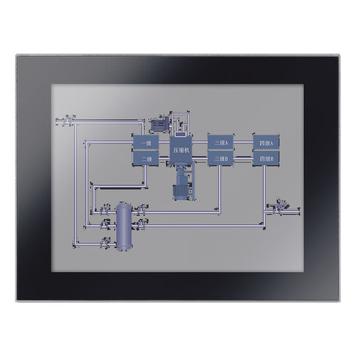 TFT-LCD monitor / resistive touch screen / 12