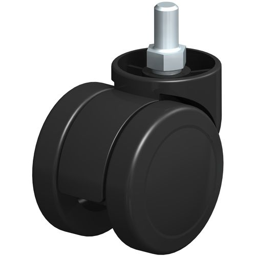swivel caster / threaded stud / for furniture / double