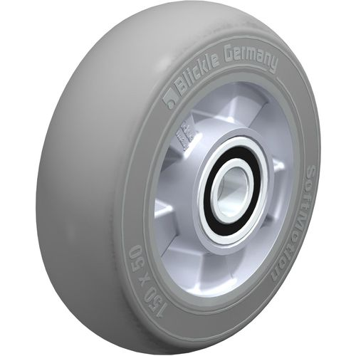 wheel with solid tire / aluminum / non-marking