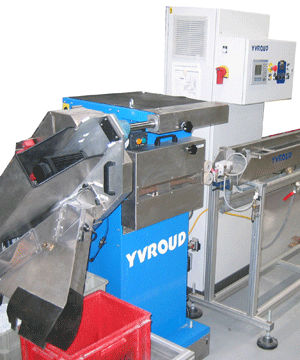 extrusion line filler and cutting unit