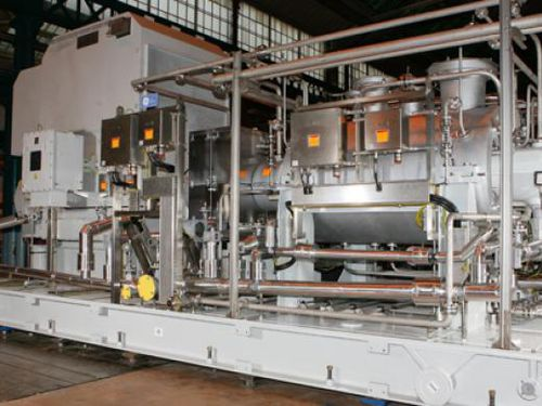 air and dry gas compressor / stationary / electric / radial