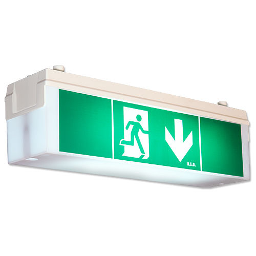 emergency lighting / fluorescent / suspended / polycarbonate