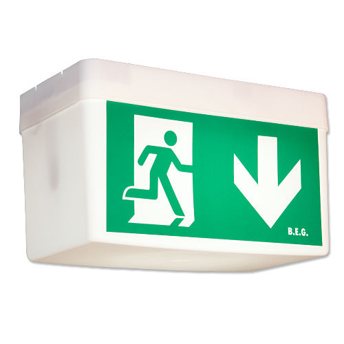 emergency lighting / lamp / suspended / polycarbonate