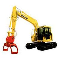 swing-arm log loader