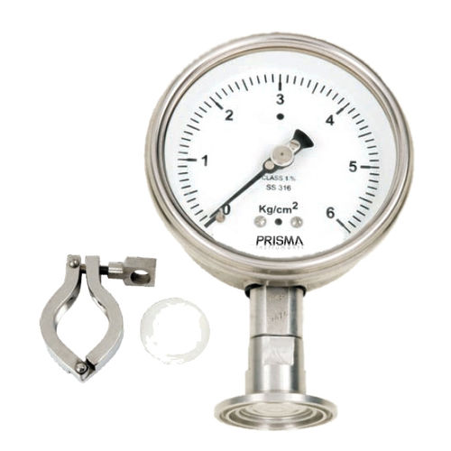 analog pressure gauge / Bourdon tube / for the food industry / for hygienic applications