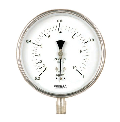 analog pressure gauge / Bourdon tube / threaded