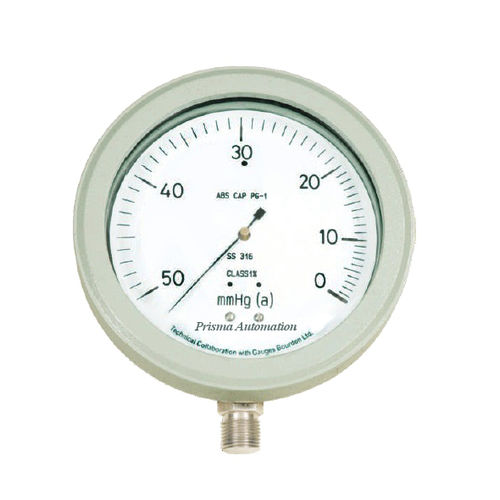 analog pressure gauge / bellows / calibration / stainless steel