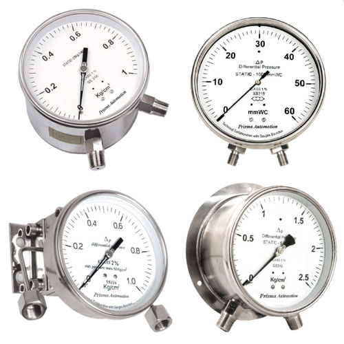 analog pressure gauge / differential / process / stainless steel