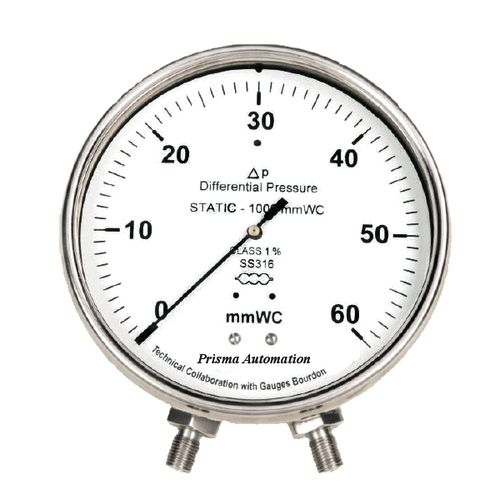 analog pressure gauge / capsule / for air / stainless steel