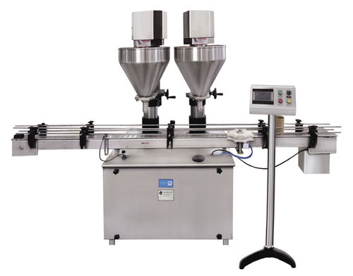 filling machine for the cosmetics industry / for the chemical industry / for the food industry / for the pharmaceutical industry