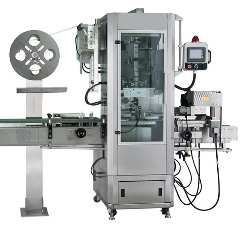 automatic labeling machine / shrink sleeve / for the food industry / for the wine industry