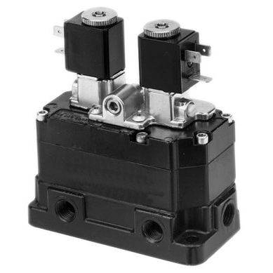 poppet pneumatic directional control valve / solenoid-operated / pneumatically-operated / 3/2-way