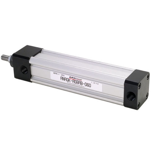 double-acting cylinder / pneumatic / stainless steel / aluminum