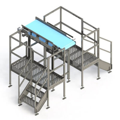 working platform / with safety railing
