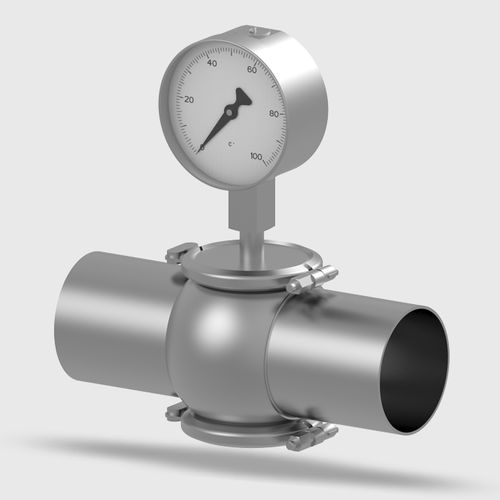gas expansion thermometer / analog / hygienic