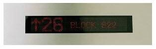 dot-matrix display / 17-segment / 1-line / electronic