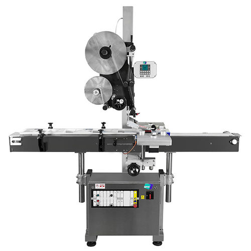 automatic labelling machine / top / for the pharmaceutical industry / for the beverage industry