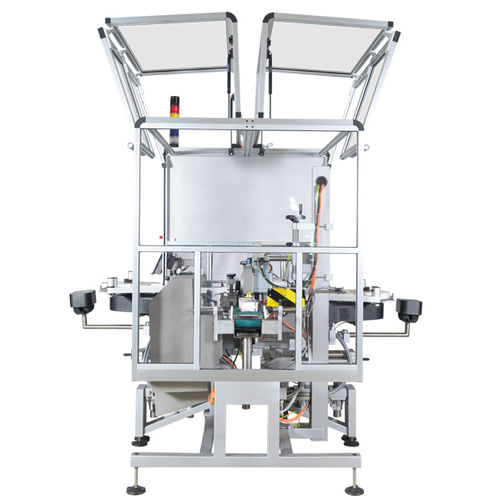 automatic labelling machine / carton / for the pharmaceutical industry / compact