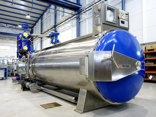 process autoclave / automatic / for the food industry