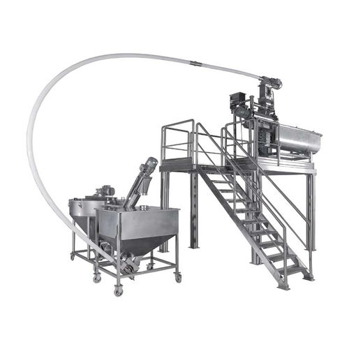 turbine mixer / continuous / for flour / stainless steel