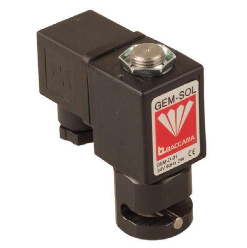 pinch solenoid valve / 2-way / NC / aluminum