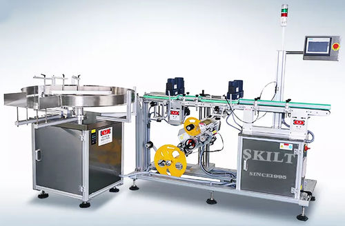 PLC-controlled labeling machine