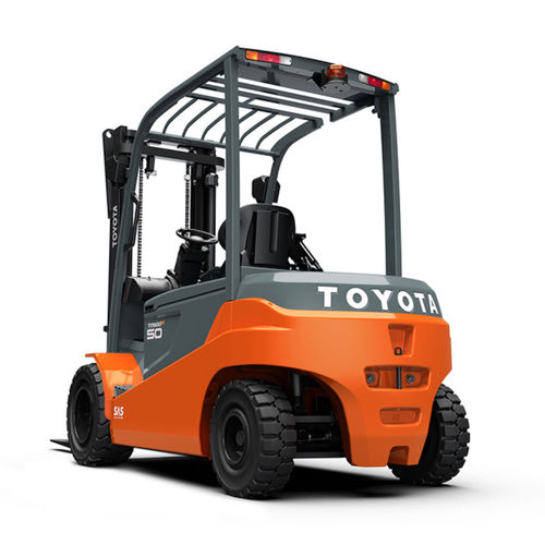 4-wheel forklift / electric / ride-on / for warehouses