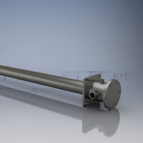 tubular heating element / stainless steel / with thermostat / for liquids and gases