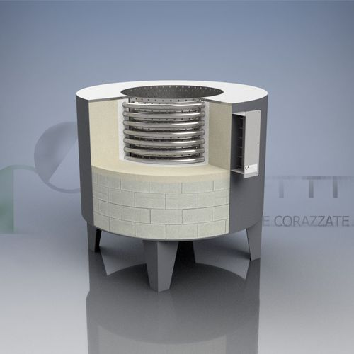 pit furnace / industrial / stainless steel