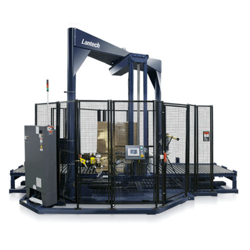 high-speed stretch wrapper / rotary arm / automatic / for finished goods