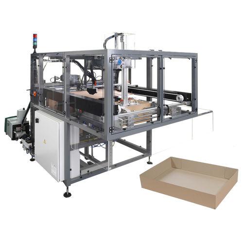 hot-melt glue tray erector