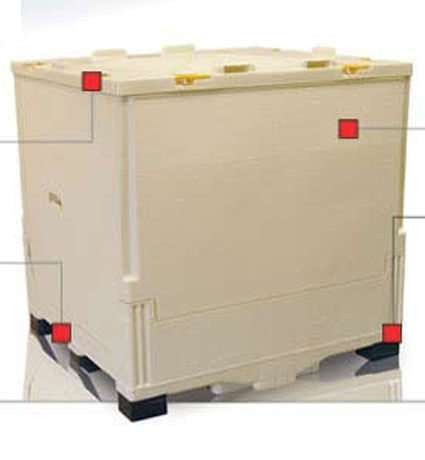 PP IBC container / for pharmaceutical products / storage / folding