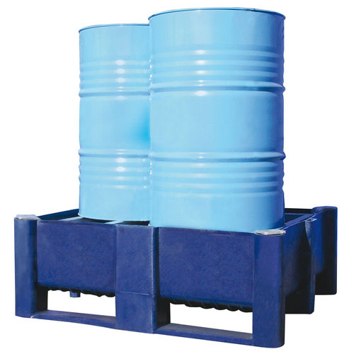 2-drum containment bund / in plastic / rigid