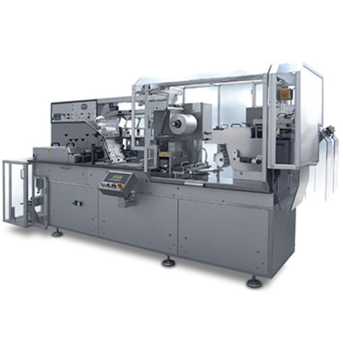 blister packaging machine / horizontal / for the medical industry / with sealing bar