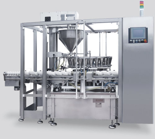 powder filling machine / for glass bottles / automatic / weight