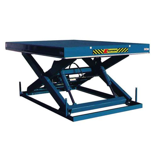 scissor lift table / hydraulic / manual / stationary