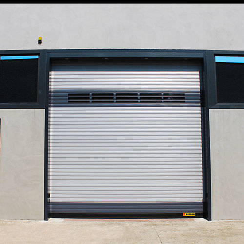 roll-up door / industrial / exterior