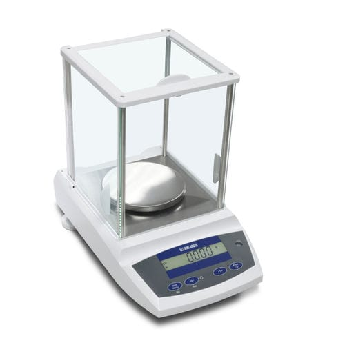 analysis scale / laboratory / with LCD display / stainless steel