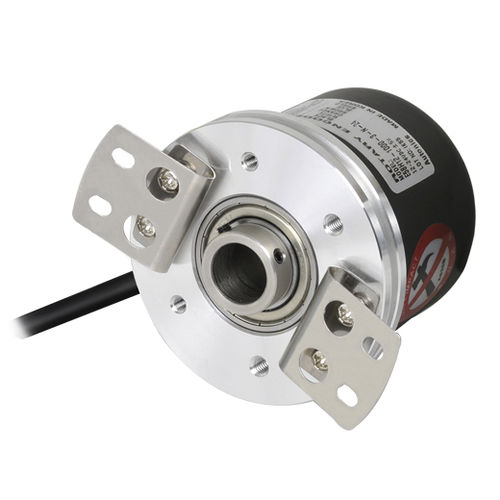 incremental rotary encoder / hollow-shaft / flange / high-accuracy